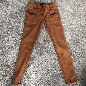 Sanctuary Ace Utility Brown Skinny Jeans